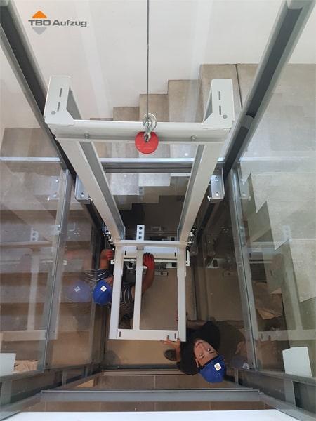 Montage von einem TBO Aufzug